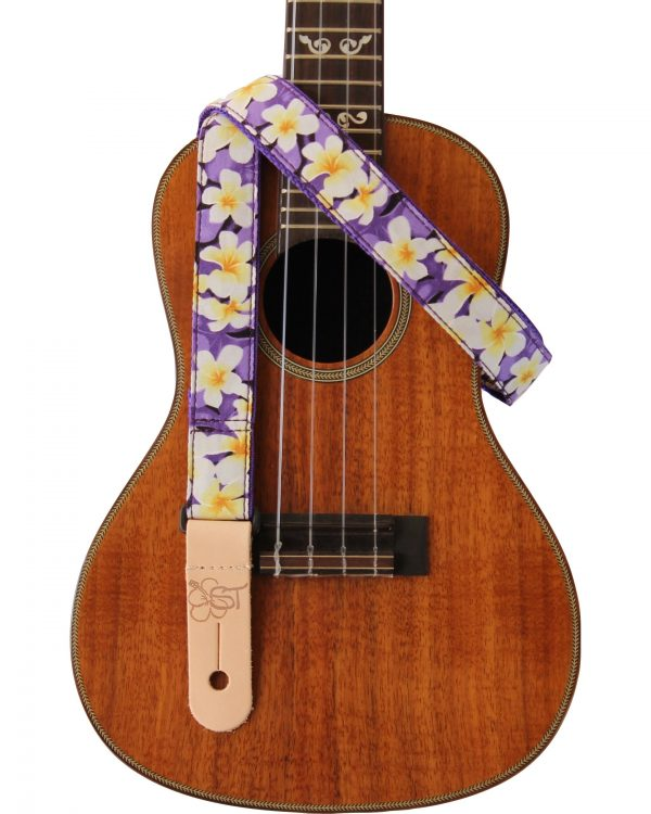 purple plumeria uke strap