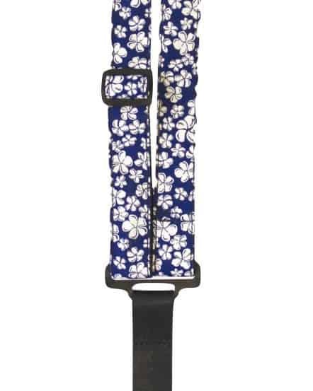 blue hibiscus uke classical neck strap