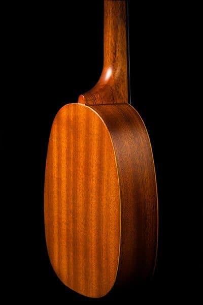 Ohana ukuleles pineapple shape mahogany soprano PK 10 back details