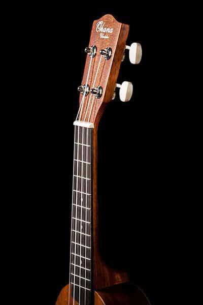 Ohana ukuleles pineapple shape mahogany soprano PK 10 headstock front