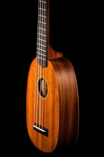 Ohana ukuleles pineapple shape mahogany soprano PK 10 front details