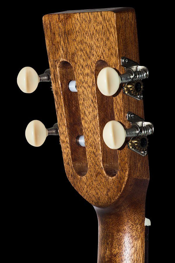 Ohana ukuleles solid spruce laminate rosewood baritone headstock back BK 70