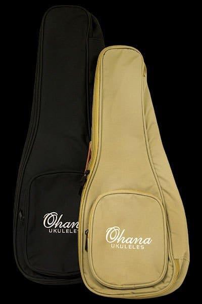 Ohana ukuleles UB bags tan and black front