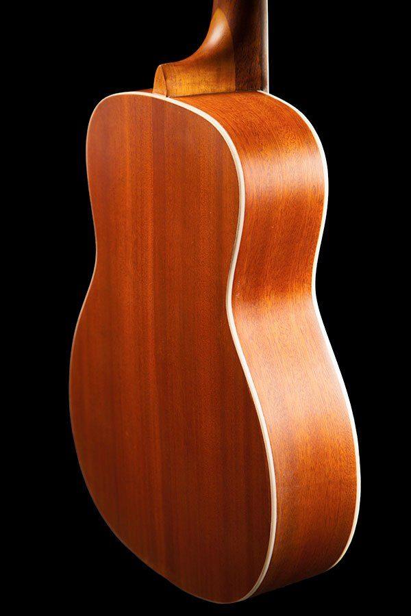 Ohana ukuleles solid top mahogany baritone back zoom BK 20