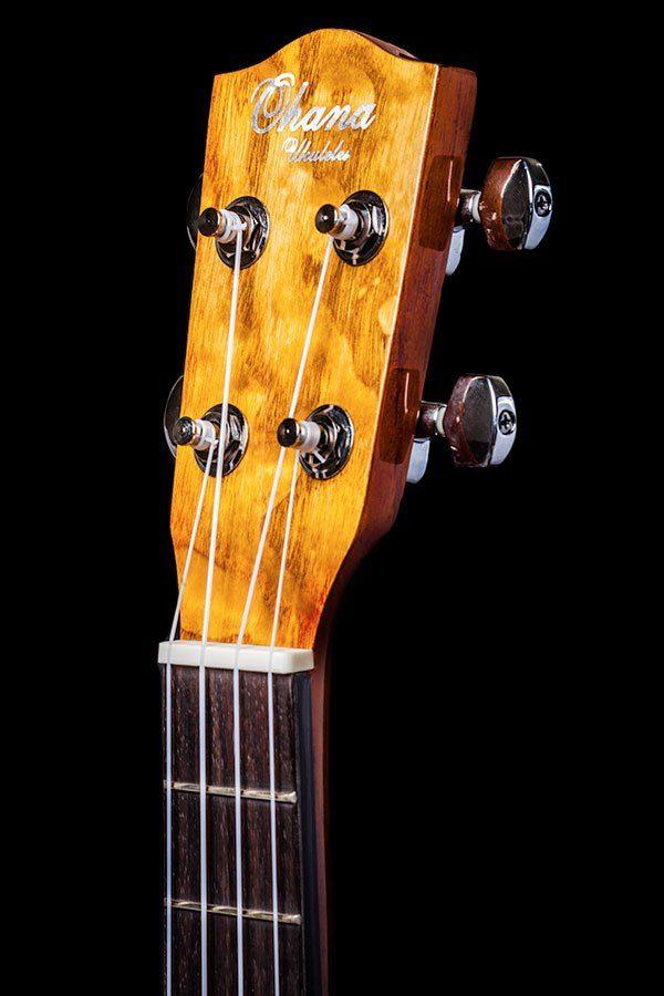 Ohana ukuleles willow tenor headstock front TK 15WG