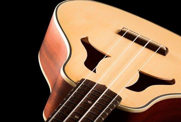 vita spruce and mahogany soprano angle view VK 70 ohana ukuleles