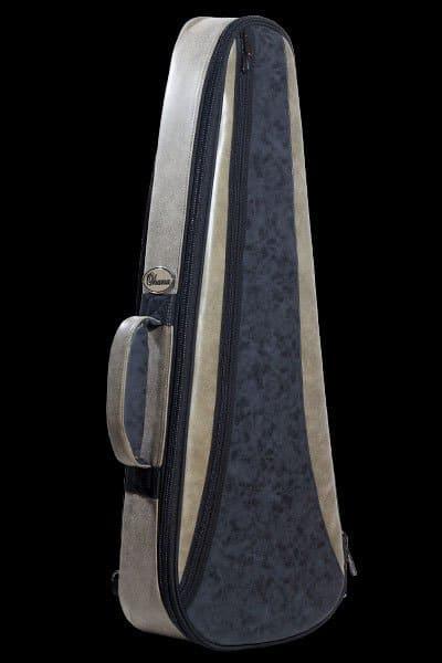 ohana ukuleles 2 tone leather deluxe soft case front