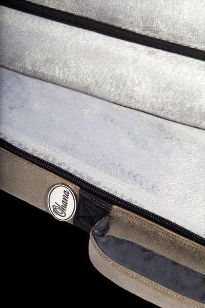 ohana ukuleles 2 tone leather deluxe soft case interior details