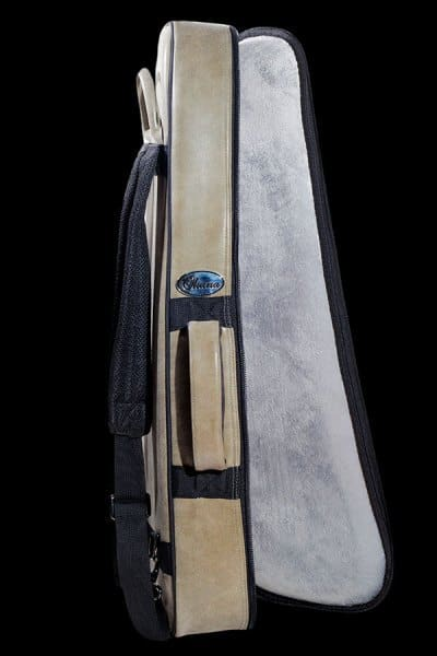ohana ukuleles 2 tone leather deluxe soft case interior