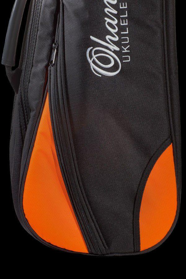 Ohana ukuleles DB2 gig bag front details OR