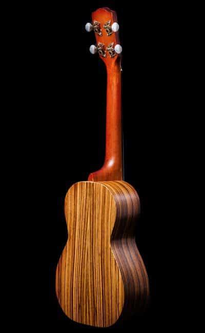Ohana ukuleles zebrawood concert back CK 15Z