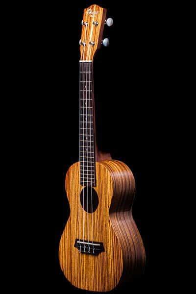 Ohana ukuleles zebrawood concert front CK 15Z