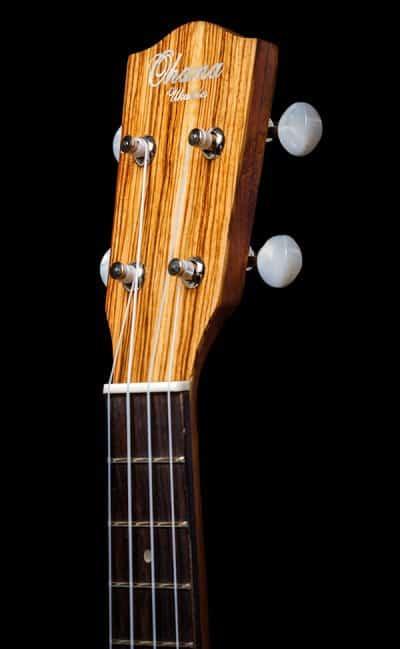 Ohana ukuleles zebrawood concert front headstock CK 15Z