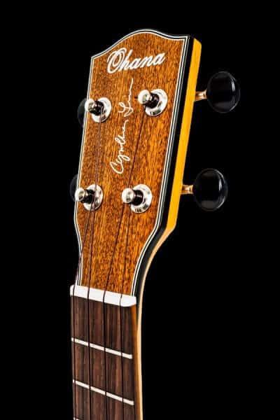 ohana ck 14cl synthia lin signature ukulele concert headstock front