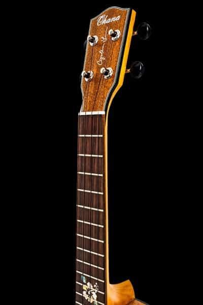 ohana ck 14cl synthia lin signature ukulele concert headstock