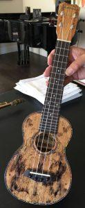 islander spalted maple soprano ukulele mas-4g