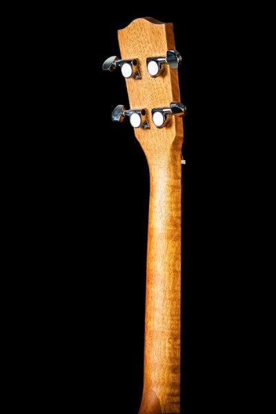 Ohana ukuleles solid top mahogany cut away EQ baritone headstock back BK 20CE