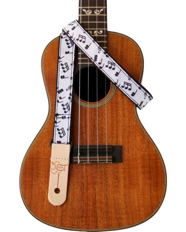 music notes on uke strap