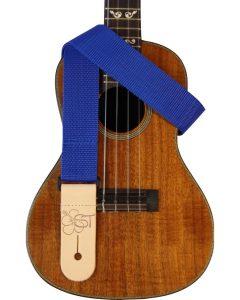 solid blue uke strap