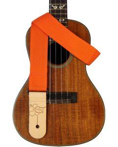 solid orange uke strap