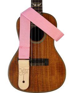 solid pink uke strap