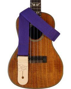 solid purple uke strap