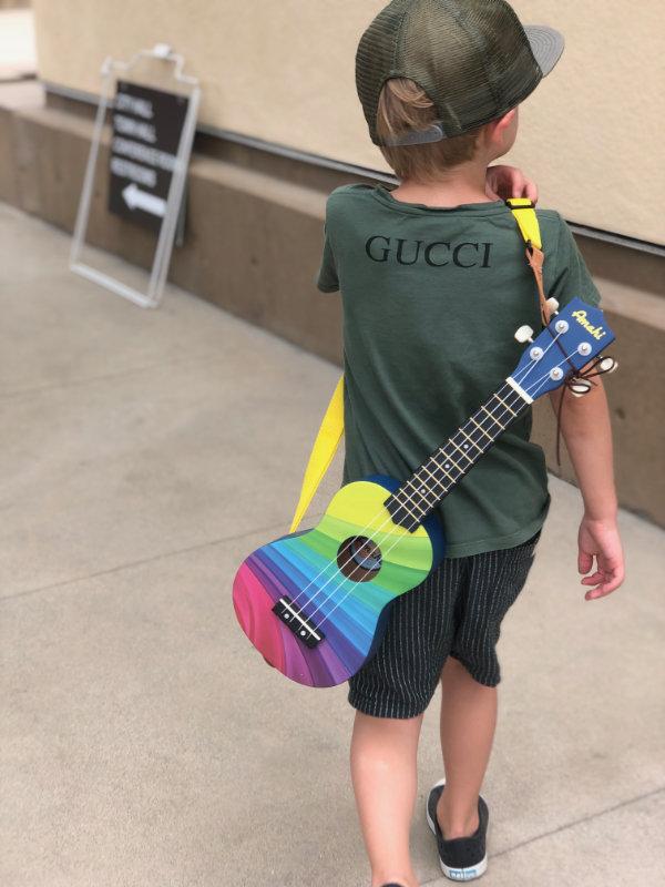Kid with uke