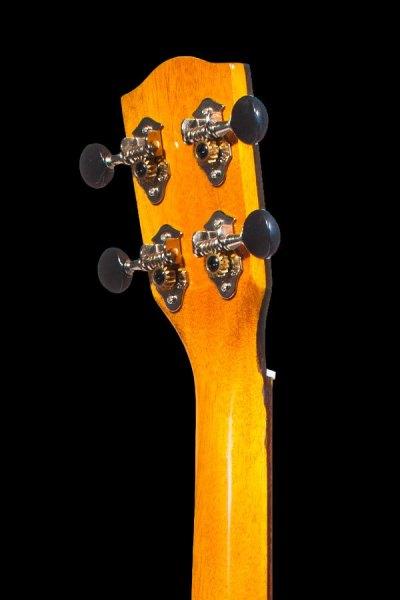 Ohana all solid mahogany concert electric ukulele CK 35GCE headstock back