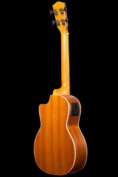 Ohana tenor electric with cutaway mahogany ukulele TK 20CE back