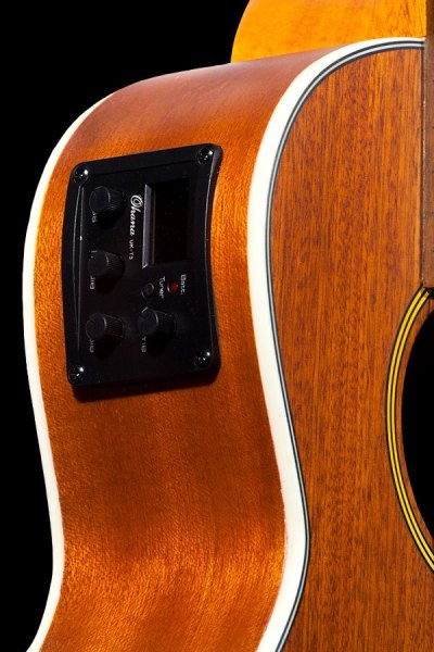 Ohana tenor electric with cutaway mahogany ukulele TK 20CE eq