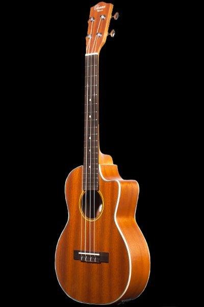 Ohana tenor electric with cutaway mahogany ukulele TK 20CE front