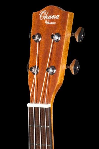 Ohana tenor electric with cutaway mahogany ukulele TK 20CE headstock front