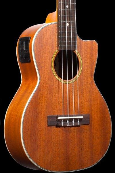 Ohana tenor electric with cutaway mahogany ukulele TK 20CE side