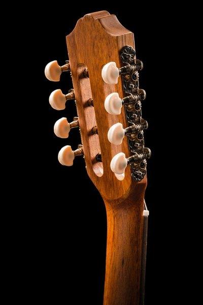 Ohana ukuleles spruce and mahogany 8 string tenor headstock back TK 70 8
