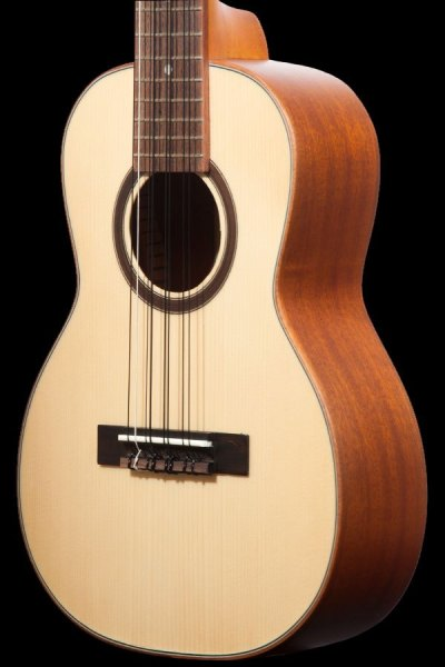 ohana all solid 8 string tenor solid spruce and mahogany TK 70 8 2019 front details spruce