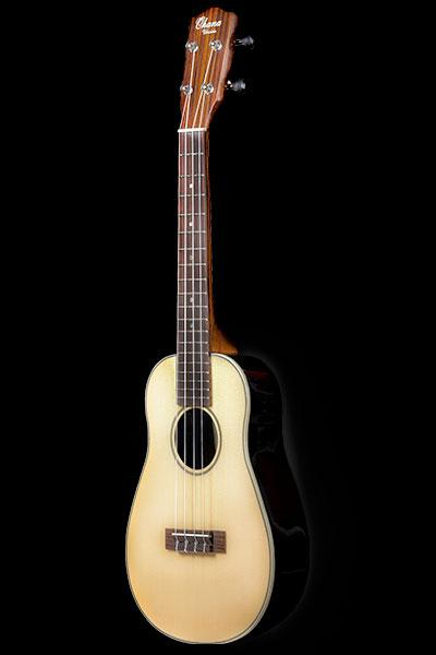 Ohana ukuleles spruce round back concert front CK
